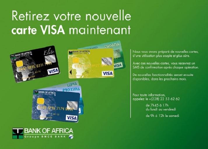 Carte Visa de la BOA Togo