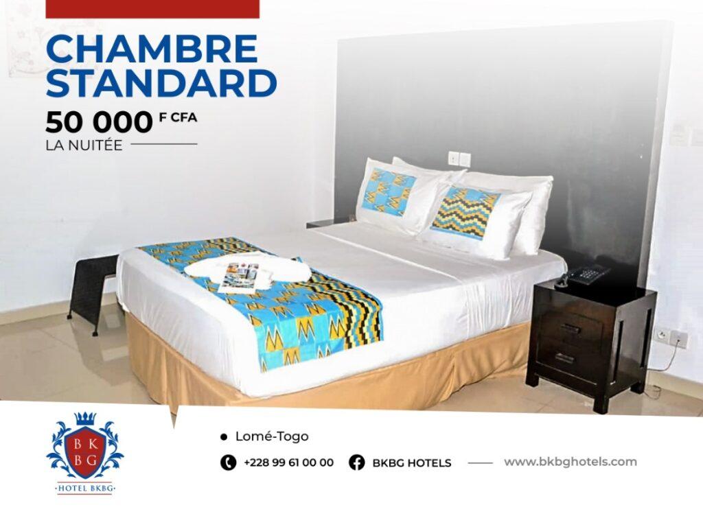 Chambre standard à l'hôtel BKBG