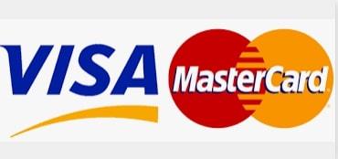 Mode paiement par carte Visa et MasterCard à l'hôtel Le Patio