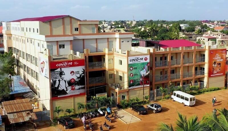 Bâtiment de l'École Internationale Mariam vu de face