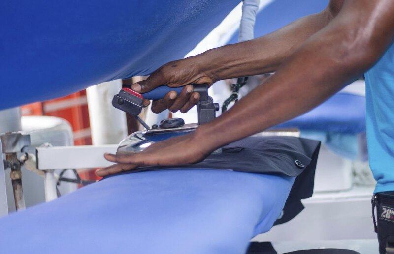 Repassage dans les calandres de Lavasec Express